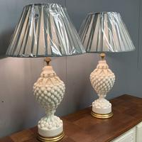 """Large Pair of Spanish Lamps by """"Bondia"""" of Manises (3 of 12)"""