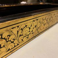 Edwardian Gilt on Black Lacquer Jewellery Box (4 of 6)