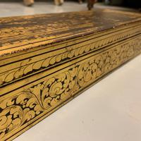 Edwardian Gilt on Black Lacquer Jewellery Box (3 of 6)