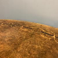 Exceptional Burr Walnut & Marquetry Oval Centre Table (5 of 11)