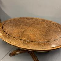 Exceptional Burr Walnut & Marquetry Oval Centre Table (6 of 11)