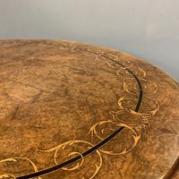 Exceptional Burr Walnut & Marquetry Oval Centre Table (10 of 11)