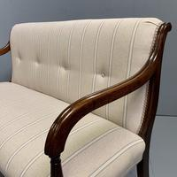 Newly Upholstered Regency 2 Seater Window Seat (3 of 7)