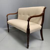 Newly Upholstered Regency 2 Seater Window Seat (2 of 7)