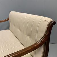 Newly Upholstered Regency 2 Seater Window Seat (5 of 7)