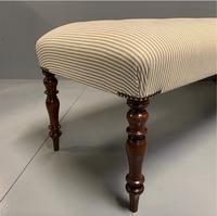 5' Regency Long Stool in a Buttoned Ticking Stripe (6 of 7)