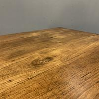 Antique French Cherry Coffee Table with Drawer (4 of 7)