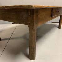 Antique French Cherry Coffee Table with Drawer (5 of 7)
