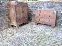 Pair of Limed Oak Bedroom Furniture