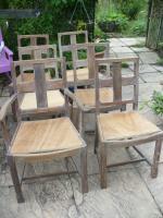 Heals Set of Limed Oak Chairs