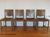 Heals Style Limed Oak Set of Four Dining Chairs