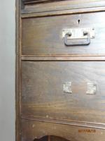 E.A.Taylor For Wylie & Lochhead Oak Secretaire Bookcase (3 of 9)