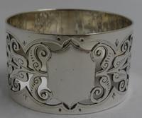 Antique Silver Napkin Ring. Birmingham 1901