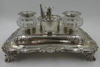 Antique William IV Silver Inkstand. London 1832