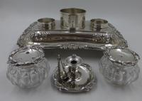 Antique William IV Silver Inkstand. London 1832 (3 of 20)