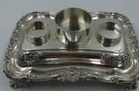 Antique William IV Silver Inkstand. London 1832 (13 of 20)
