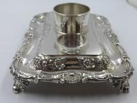 Antique William IV Silver Inkstand. London 1832 (16 of 20)