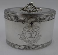 Antique George III Silver Tea Caddy. London 1774