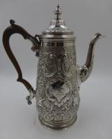 Antique George IV Silver Coffee Pot. London 1823