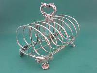 Beautiful Antique Victorian Silver 6-Slice Toast Rack