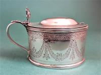 Decorative Antique Victorian Silver Mustard Pot