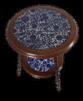 Walnut & Ceramic Side Tables (4 of 4)