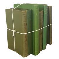 Instant Bookshelf of 8 Green Volumes