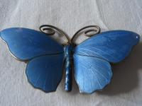 Very Large Marius Hammer Enamel Butterfly