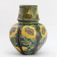 Burmantofts Faience Tubelined Art Nouveau Pottery Vase c.1895