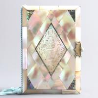 Mother of Pearl & Abalone Ladies Pocket Notebook (+ Refills) c.1880