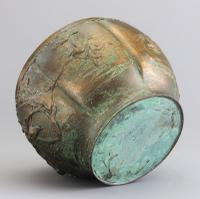 Large Japanese Bronze Jardiniere Decorated with Birds in Cherry Blossom c.1915 (6 of 10)