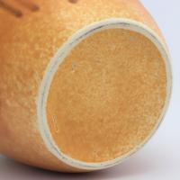 Large Ruskin Pottery Crystalline Drip Glaze Celadon-Blue & Orange Vase c.1930 (9 of 9)