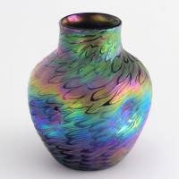 Loetz Secessionist Phaenomen Iridescent Glass Vase in Décor Pg7734 C1898 (9 of 9)