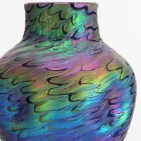 Loetz Secessionist Phaenomen Iridescent Glass Vase in Décor Pg7734 C1898 (2 of 9)