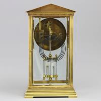 French Four Glass Brass Mantle Clock by Couaillet Freres C.1895 (6 of 12)