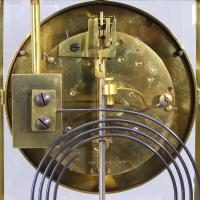 French Four Glass Brass Mantle Clock by Couaillet Freres C.1895 (2 of 12)