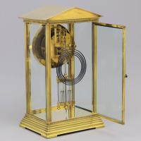 French Four Glass Brass Mantle Clock by Couaillet Freres C.1895 (3 of 12)