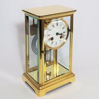Brass Four Glass French Striking Mantle Clock C.1870 (3 of 11)