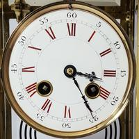 Brass Four Glass French Striking Mantle Clock C.1870 (6 of 11)