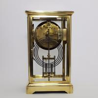 Brass Four Glass French Striking Mantle Clock C.1870 (8 of 11)
