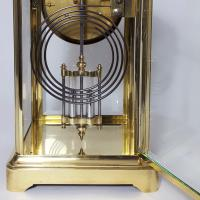 Brass Four Glass French Striking Mantle Clock C.1870 (10 of 11)