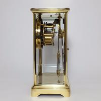 Brass Four Glass French Striking Mantle Clock C.1870 (9 of 11)