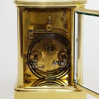 French Brass Corniche Cased Striking Repeating Carriage Clock C.1900 (10 of 11)