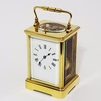 French Brass Corniche Cased Striking Repeating Carriage Clock C.1900 (5 of 11)