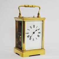 French Brass Corniche Cased Striking Repeating Carriage Clock C.1900 (3 of 11)