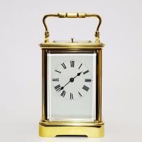 French Brass Corniche Cased Striking Repeating Carriage Clock C.1900 (2 of 11)