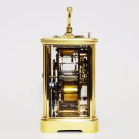 French Brass Corniche Cased Striking Repeating Carriage Clock C.1900 (6 of 11)