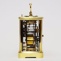 French Brass Corniche Cased Striking Repeating Carriage Clock C.1900 (8 of 11)