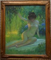 Jules René Hervé Nue Assise Oil Pastel C.1930