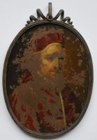 Early Portrait Miniature on Copper c.1650 Pope